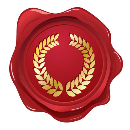 Laurel wreath wax seal Stock Vector - 6262533