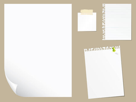 Blank paper collection