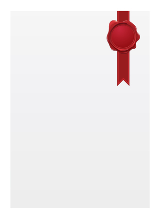 Blank paper with seal Vector
