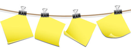 Blank memo notes vector Illustration