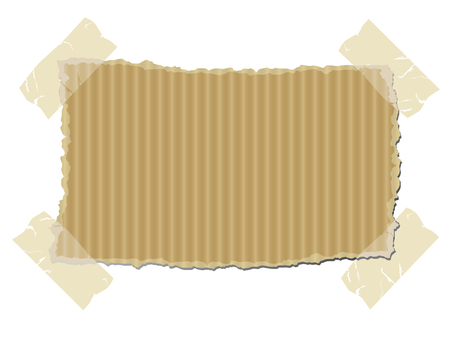 Torn cardboard vector Vector