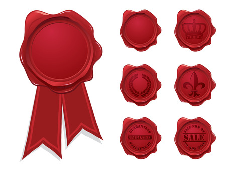 Wax seal collection Vector