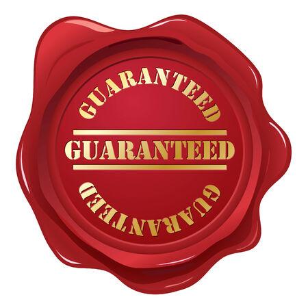 red wax seal: Guaranteed wax seal