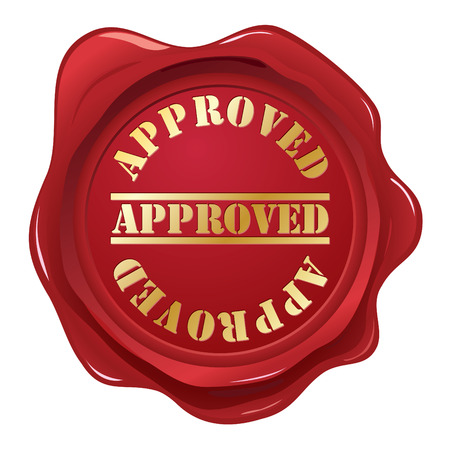 Approved wax seal Vector