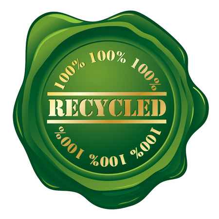 Recycled wax seal Vector