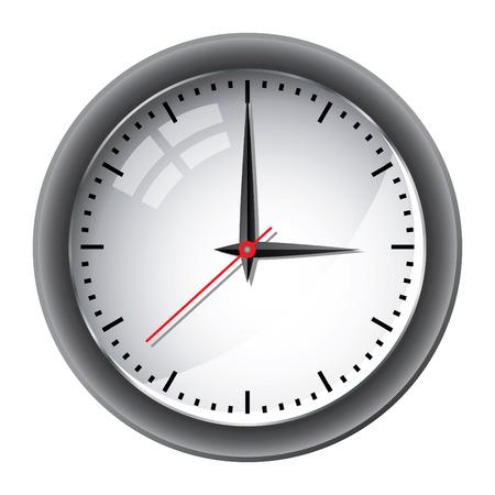 reloj de pared: Ilustraci�n de reloj de pared de Oficina Vectores