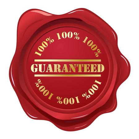Guaranteed wax seal Vector