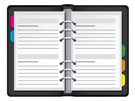 Illustration du vecteur organisateur