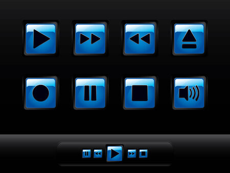 glowing skin: Music buttons