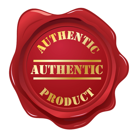 Authentic wax seal stamp Vector