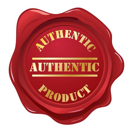 originales: Cera aut�ntico sello sello  Vectores