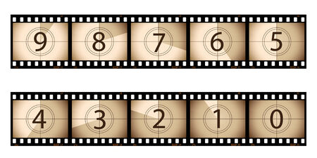 Film strip countdown
