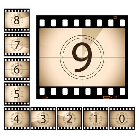 esporre: Pellicola Countdown con fotogrammi separati