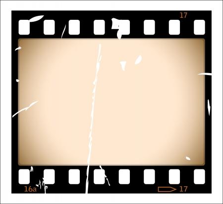Grunge film strip Vector