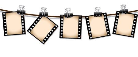 Row of sepia film negatives Stock Vector - 6406113