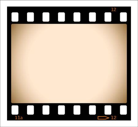 esporre: Illustrazione di striscia di pellicola seppia  Vettoriali