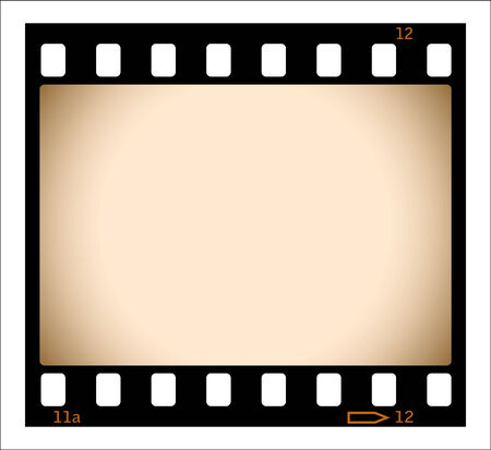 Sepia film strip illustration Vector