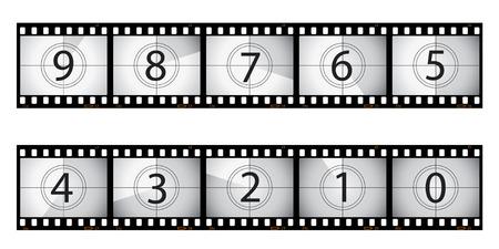35 mm: Film countdown illustration Illustration