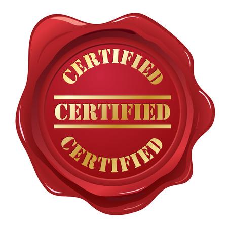 Certified wax seal Illustration