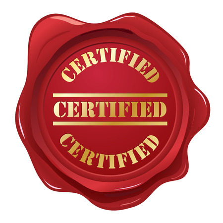 Certificado de sellos de cera  Ilustración de vector