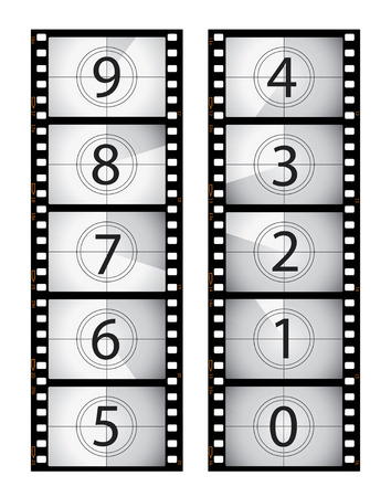 Vertical film countdown Stock Vector - 6469957