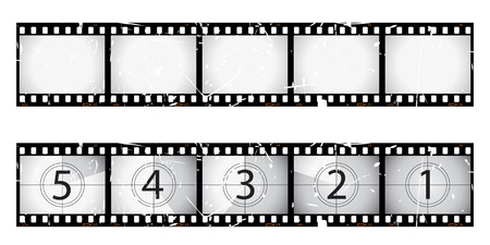 Grunge film strip and countdown Stock Vector - 6493467