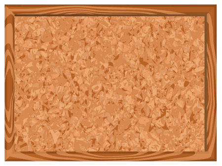 Blank corkboard illustration Vector