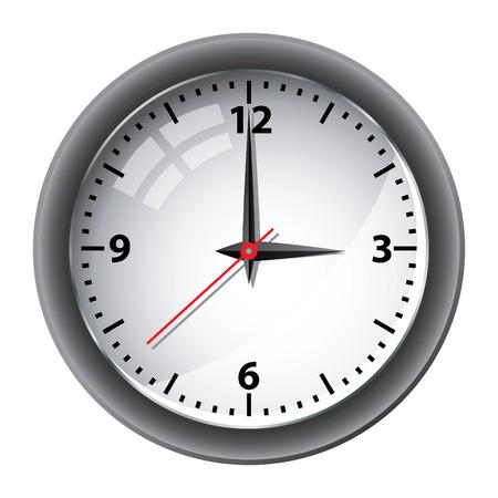 office clock: Vector de reloj de pared de Oficina Vectores