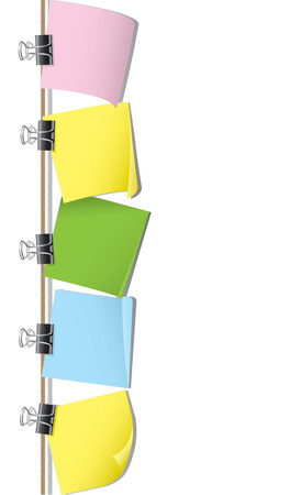 Fila de papel en blanco de nota