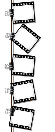 Row of film negatives Stock Vector - 6569807