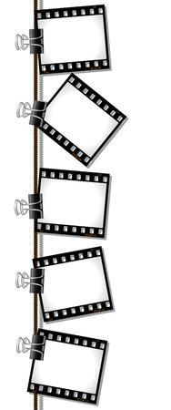 negatives: Row of film negatives