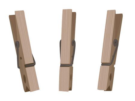 Illustration en bois peg Vecteurs