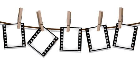 Rij van film negatieven