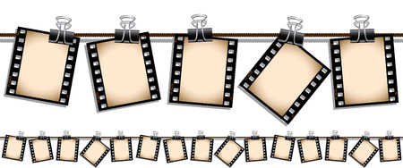 Seamless film strip illustration