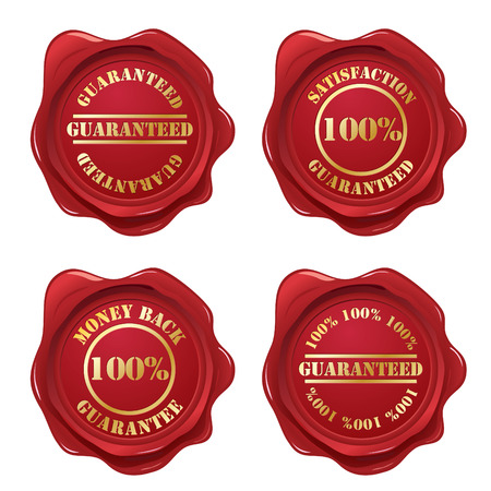 money back: Guarantee wax seal collection