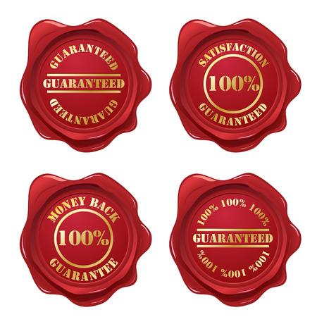 red wax seal: Guarantee wax seal collection