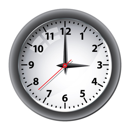Office wall clock Stock Vector - 6872833