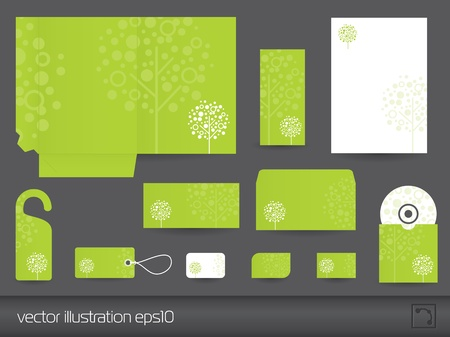 tree disc: Stationery design vector