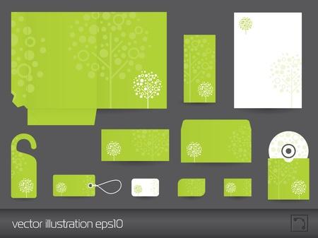 hojas membretadas: Vector de diseño de escritorio