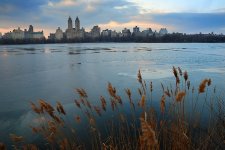 Central Park at dusk, New York City photo