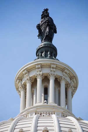 Statue of Freedom over Capitol Hill Building in Washington DC Stock Photo - 7017099