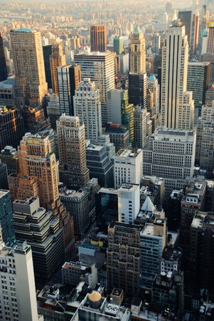 New York City skyline. Manhattan aerial view. photo