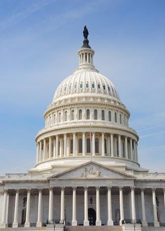 Capitol hill building dome closeup in Washington DC Stock Photo