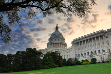 capitol hill: Capitol hill building in the morning with colorful cloud , Washington DC.  Stock Photo
