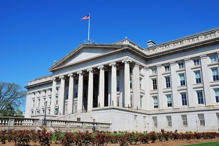 US Treasury Department building in Washington DC 版權商用圖片