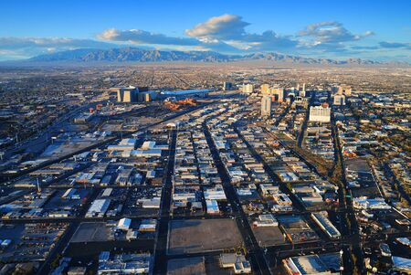 las vegas city: Las Vegas City Skyline with mountain, highway, street and luxury hotels.