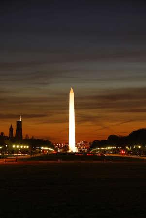 National mall illuminated at night, Washington DC. Stock Photo - 7181941