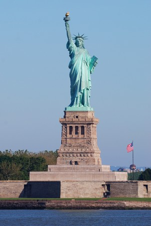 Statue of Liberty in New York City Manhattan Hudson River Stock Photo - 7181909