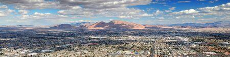 Las Vegas city skyline panorama with urban street and buildings. Stock Photo - 7182366