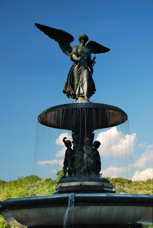 bethesda: New York City Central Park Angel of the Waters statue in Bethesda Terrace fountain in Midtown Manhattan.